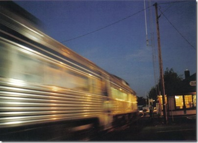 Lewis & Clark Explorer passing the St. Helens Depot on September 24, 2005
