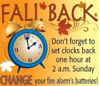 Turn clocks back
