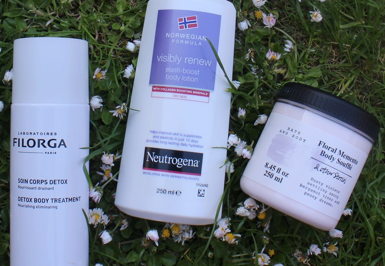 Filorga-Detox-Body-Treatment, Neutrogena-Visibly-Renew-Elasti-boost-Body-Lotion,&Other-Stories-Floral-Memento-Body-Souffle