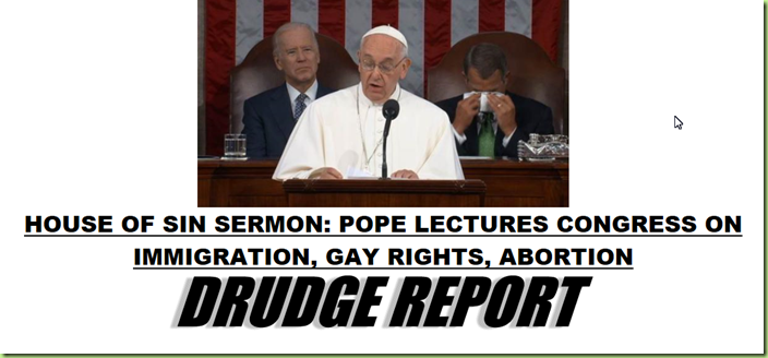 pope to congress