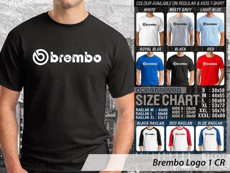 KAOS Brembo Logo Otomotif distro ocean seven