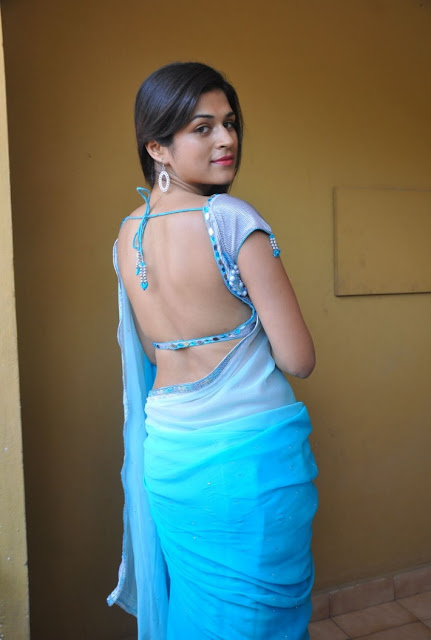 shraddha saree back