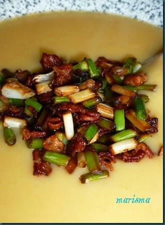 crema de verduras con beicon y ajetes,racion2 copia