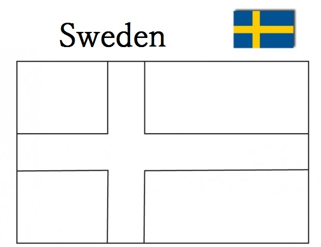 Geography Blog Sweden Flag Coloring Page