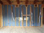 Denim insulation throughout house. 4/19/15