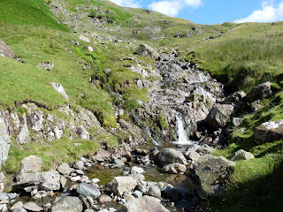 A waterfall in Greenup Gill.