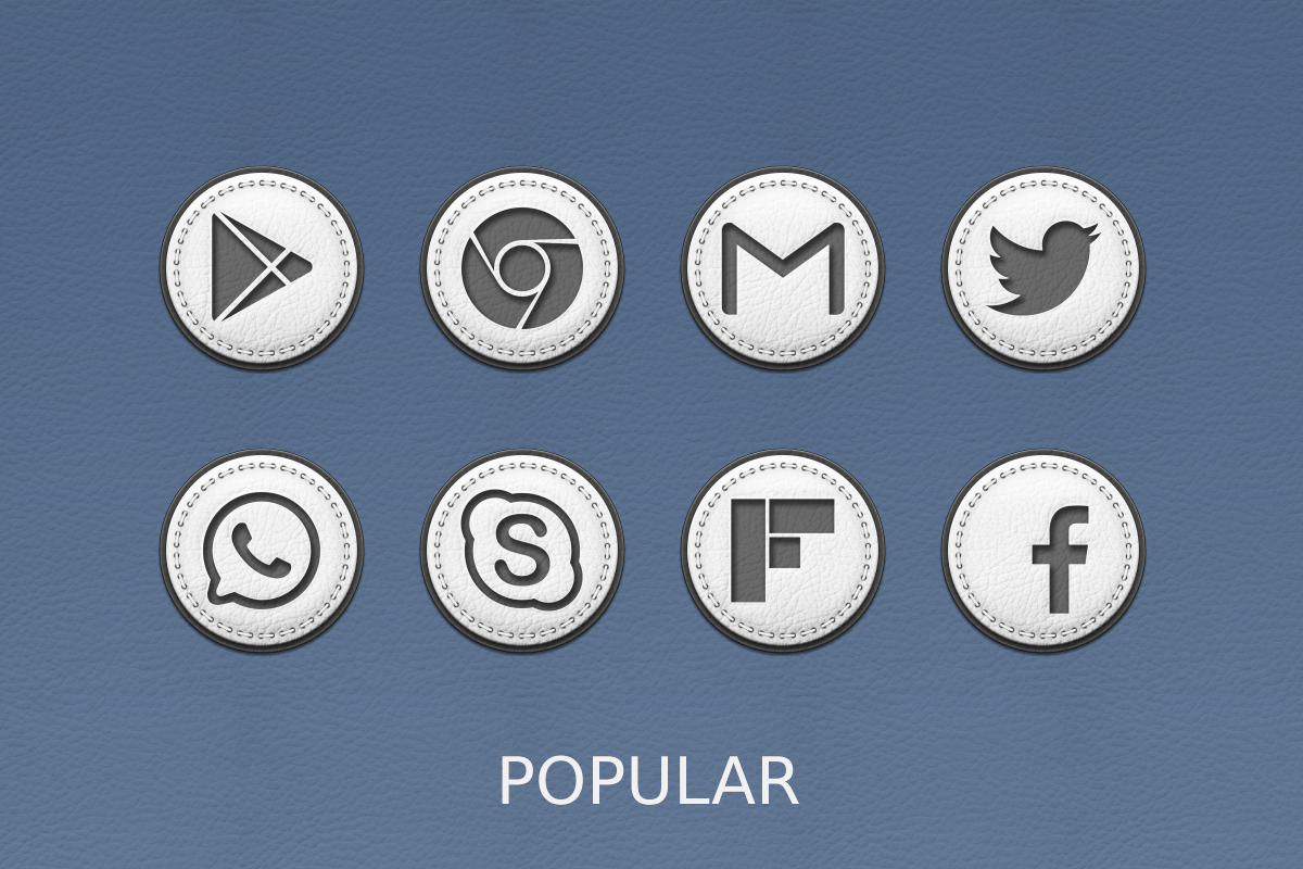 White Leather Icon Pack Screenshot 13