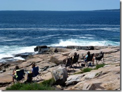 Schoodic Point with David, Sharon, Gin, Tricia and Dan