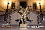 Gold Jester Statue with Trumpet at Oheka Castle, Huntington, NY