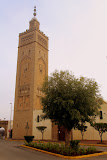 A Mosque and Minaret in The Habbous Quarter - Casablanca, Morocco