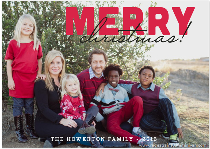minted holiday photo cards howerton family 2013