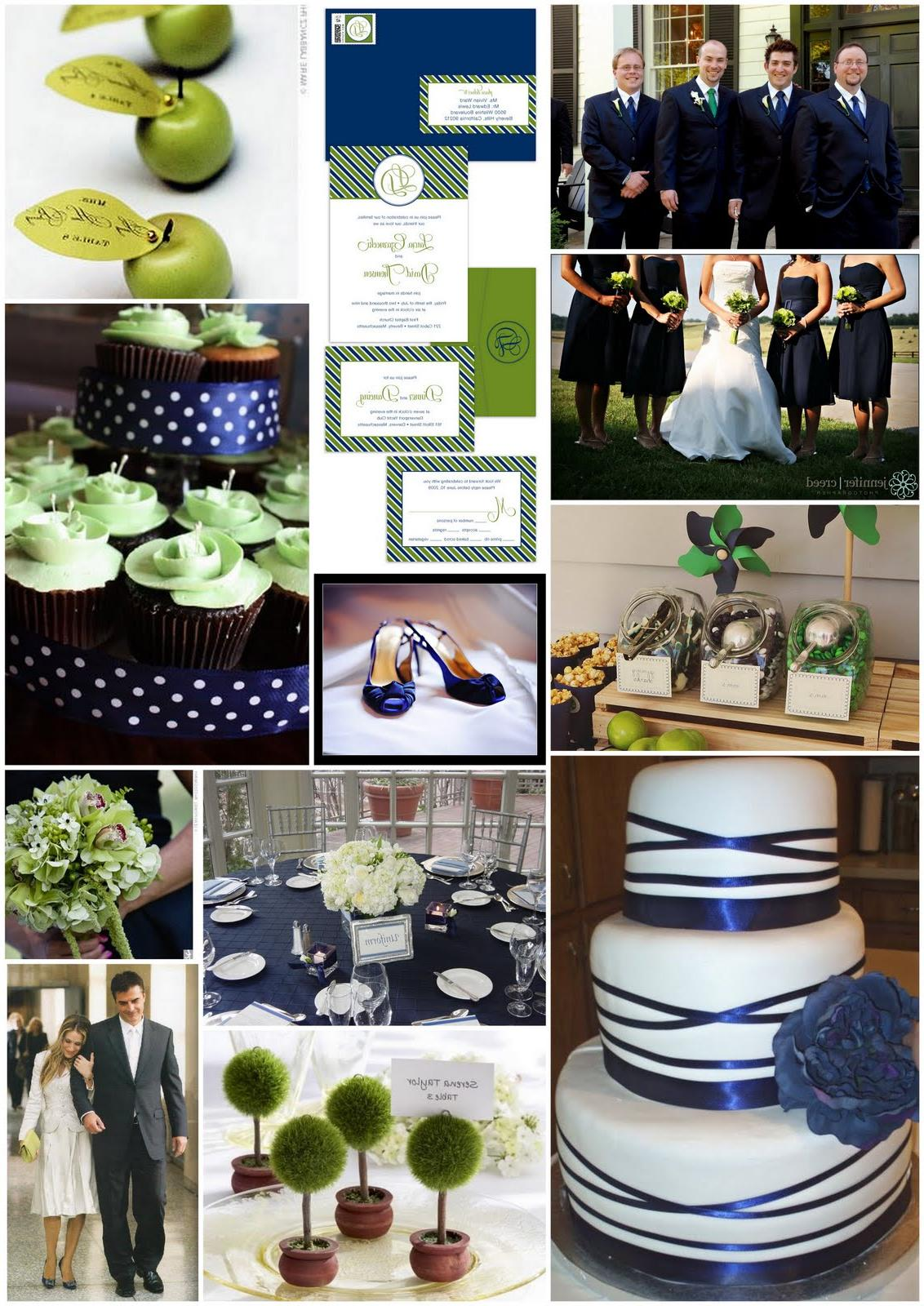 Navy Table Linens: Wedding