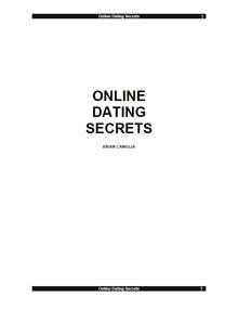 Cover of Brian Caniglia's Book Online Dating Secrets