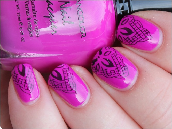 Magenta Lace Nageldesign 4