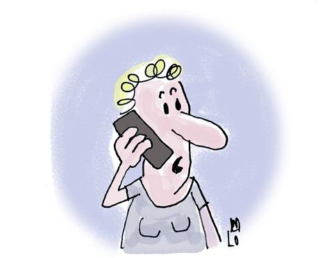 Handy Cartoon Lo Graf von Blickensdorf