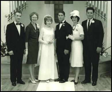 Russell and Barbara's Wedding 9-8-1965
