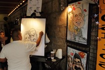 Artist at work - San Antonio Riverwalk