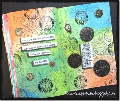 Clock Challenge Art Journal