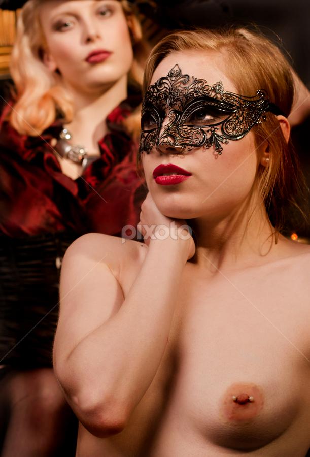 masquarade II by Jean-marc Nehmé - Nudes & Boudoir Boudoir ( pierced, lipstick, females, masque )