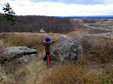 Eidan picking off tourists from Little Round Top