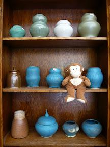 CM w/Gina's pottery ---