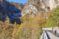 Die Kehrtunnel auf der Südrampe des Passo di San Boldo.