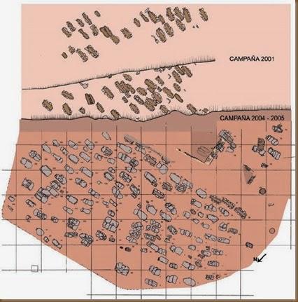 Plano de la necrópolis de San Esteban - Beriáin