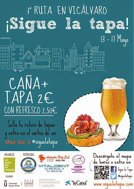 I Ruta de Tapas del distrito de Vicálvaro, organizada por 'Un Buen Día en Madrid'