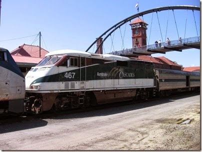 IMG_6056 Amtrak Cascades F59PHI #467 at Union Station in Portland, Oregon on May 9, 2009