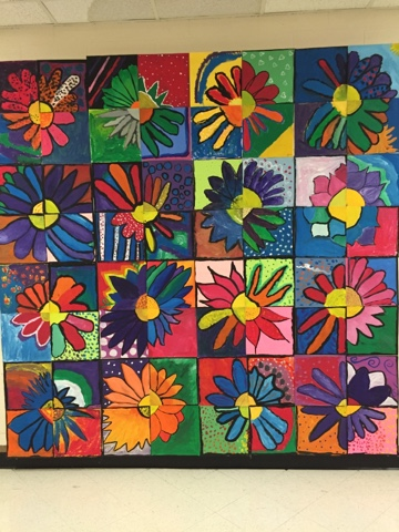 Art with mrs j huge group mural for Crafts classes for adults