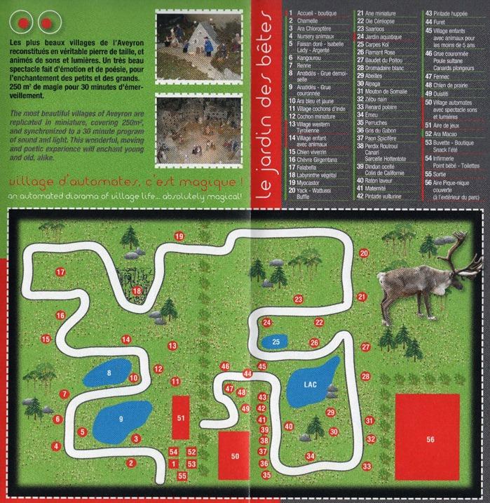 jardin des bêtes plan