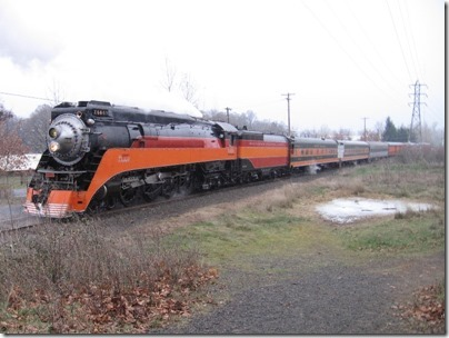 IMG_1125 Southern Pacific Daylight GS-4 4-8-4 #4449 at Oaks Park in Portland, Oregon on December 12, 2009
