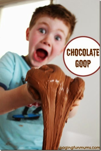 3 ingredient chocolate goop play recipes for kids - This stuff is AWESOME! Super fun kids activities.