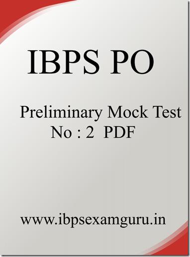 IBPS PO Preliminary practice Set 2