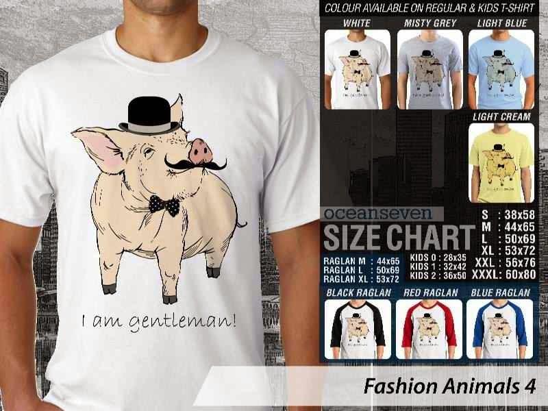 Kaos Fashion Animals 4 Binatang Babi Pig distro ocean seven
