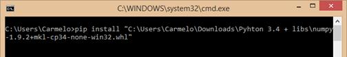 instalar numpy en python 3.x