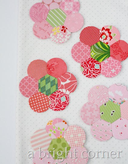 English Paper Piecing Hexden flowers