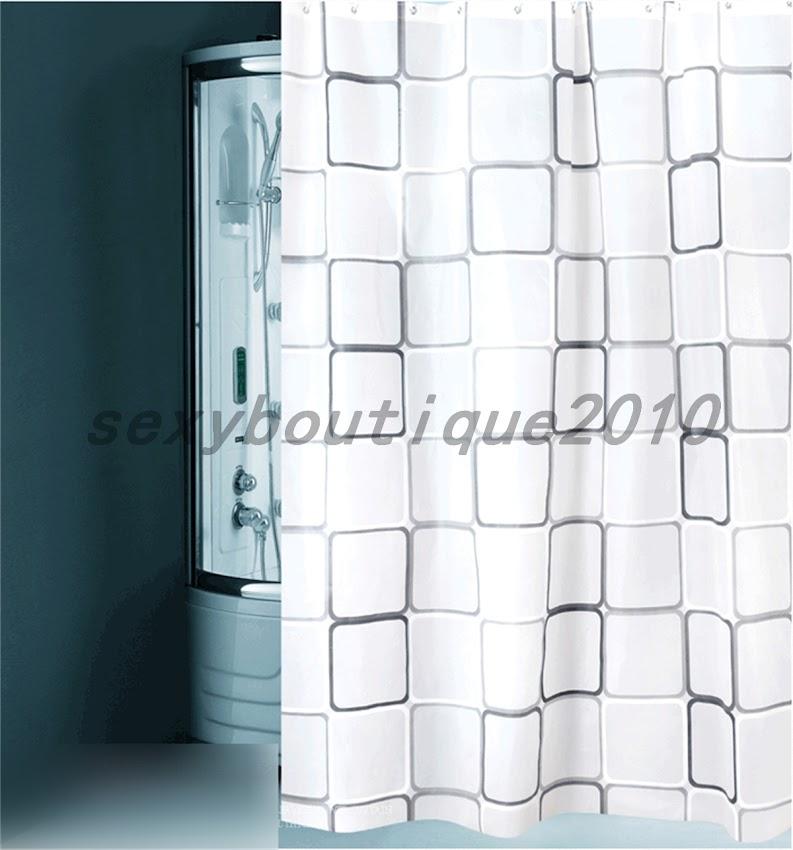 duschvorhang badewannenvorhang vorhang 120 150 180 200 240 x 200cm inkl ringe ebay. Black Bedroom Furniture Sets. Home Design Ideas