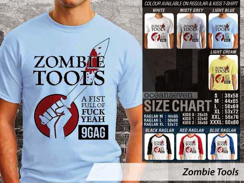 Kaos Lucu 9Gag Meme Zombie Tools distro ocean seven