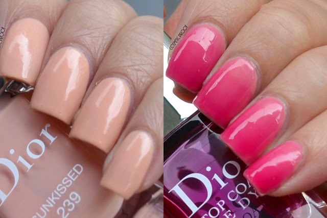 Dior Tie Dye Top Coat 869 Sunkissed Review Swatch Gradient Nail Art