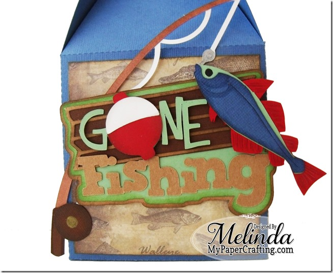 My paper fishing gift box card and freebie for Fishing gift box