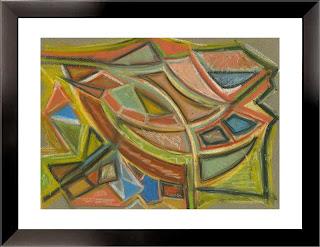 Roads (oil pastels, 2000)