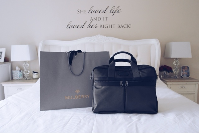Mulberry Henry Laptop Bag, Fashion Blogger