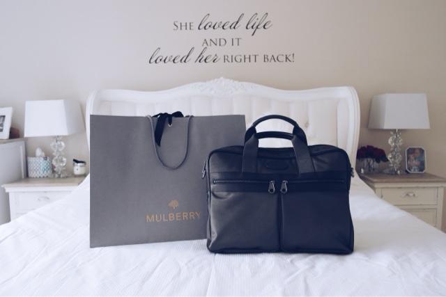 Mulberry Henry Laptop Bag, Fashion Blogger