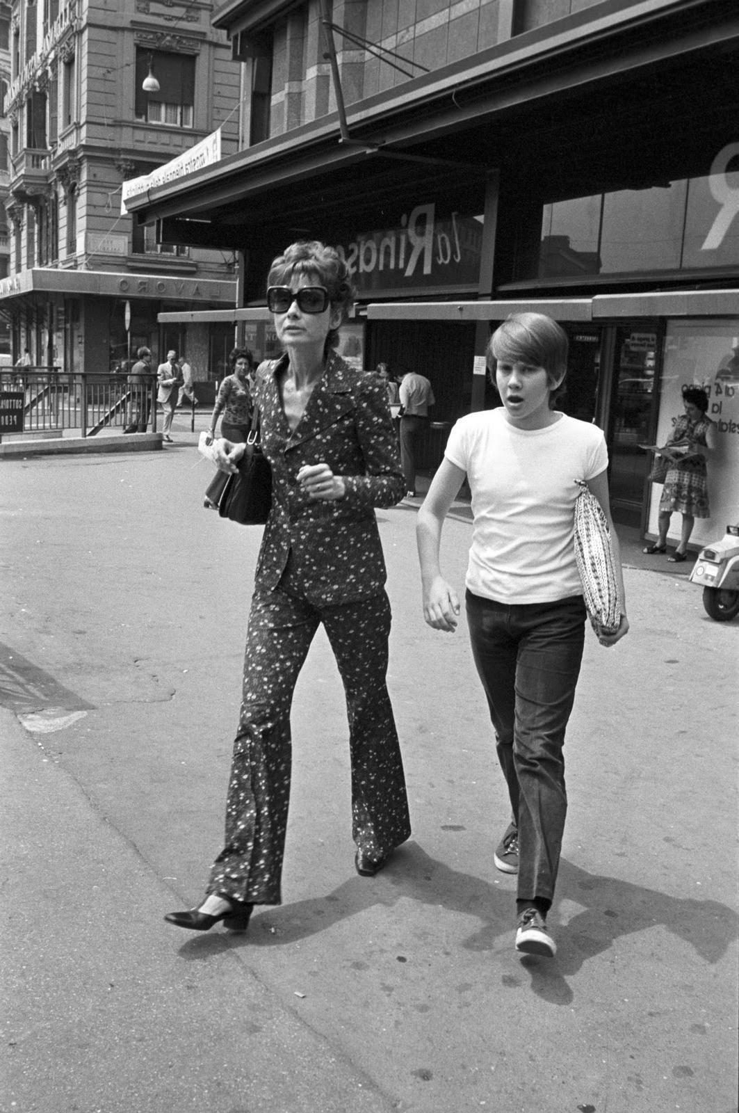 Audrey Hepburn with her son