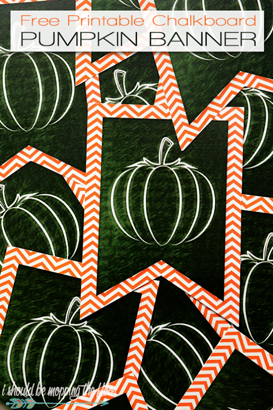printable pumpkin banner