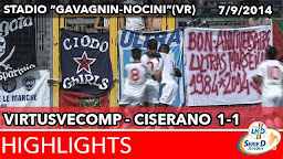 VirtusVecomp - Ciserano - Highlights del 07-09-2014