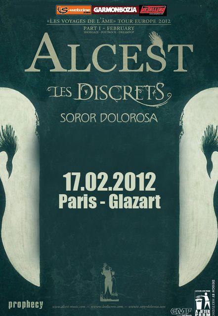 Alcest / Les Discrets / Soror Dolorosa @ Glaz'Art, Paris 17/02/2012