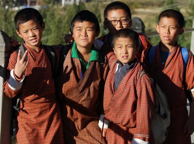 Wangdi Bajo School Kids