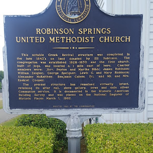 This notable Greek Revival structure was completed in the late 1840's on land donated by Eli Robinson. The congregation was established 1828-1830 and the first church, built of logs, was located c. ...